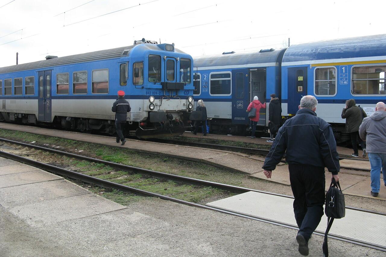 From Plzeň to České Budějovice by Train