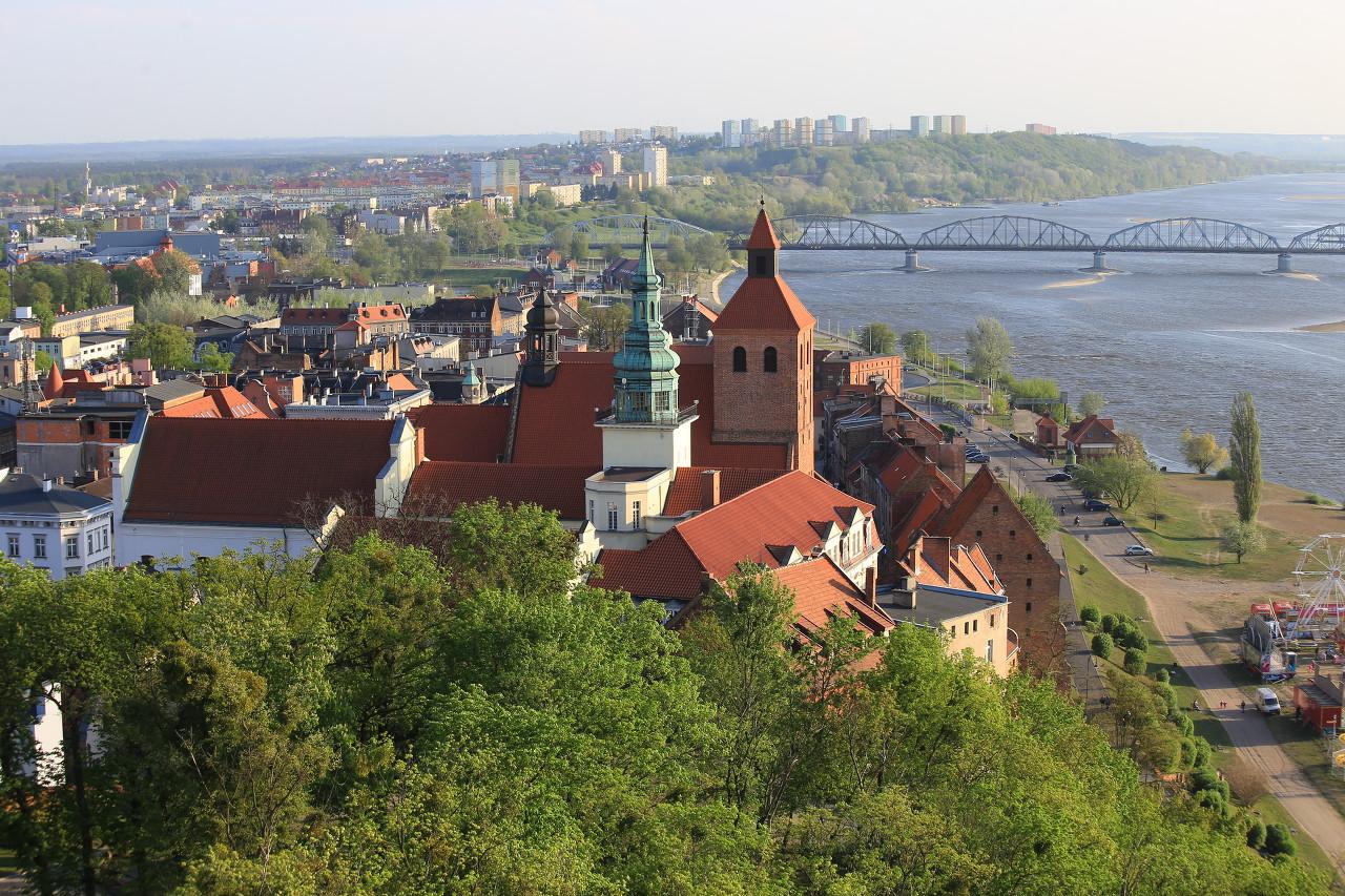 Grudziądz view from the Klimek Tower