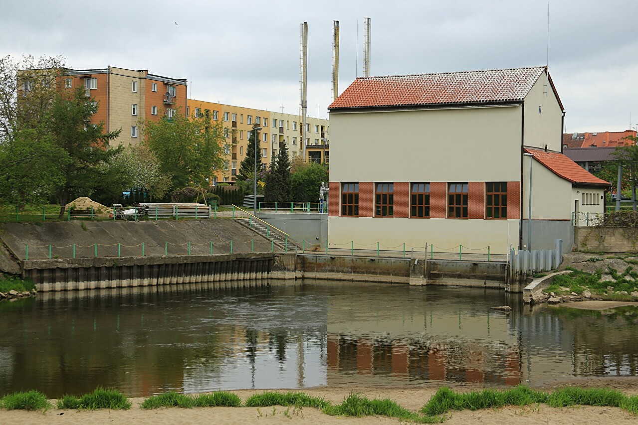 Hydroelectric station on Pasleka river, Braniewo