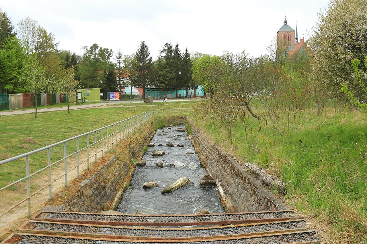 Dam on Pasleka river, Braniewo