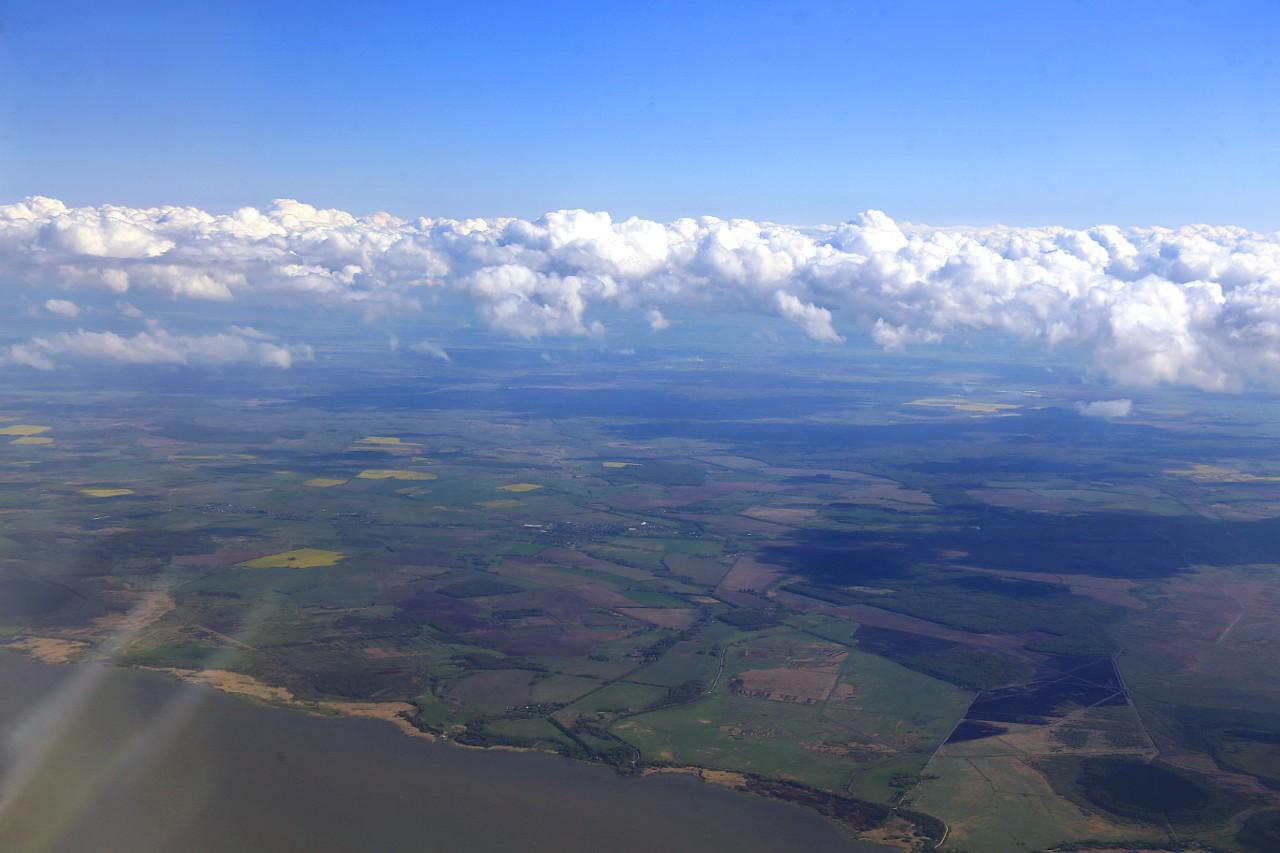 Kaliningrad region, view from an airplane