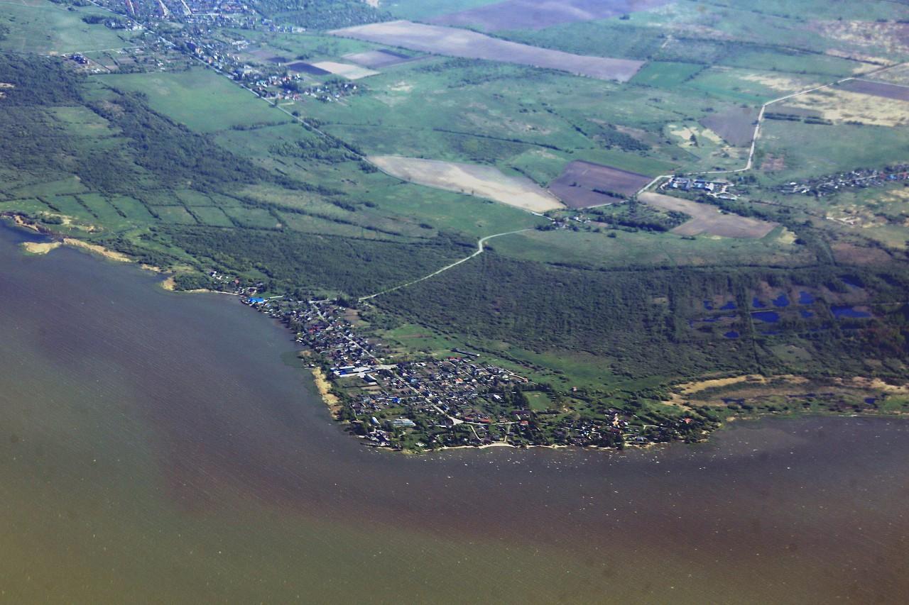Zalivino, Kaliningrad region, view from an airplane