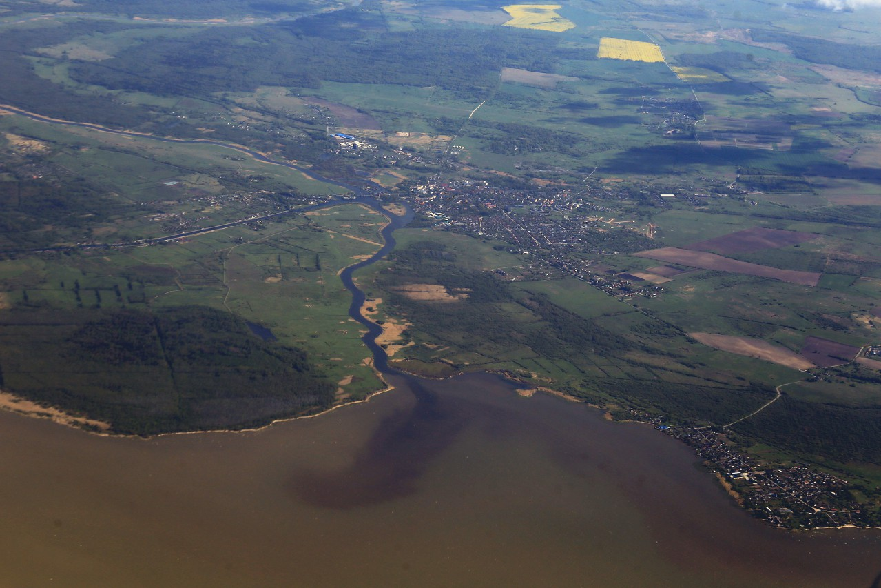 The river Deima, Kaliningrad oblast, the view from the plane