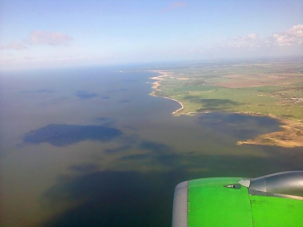 Куршский залив, вид с самолёта