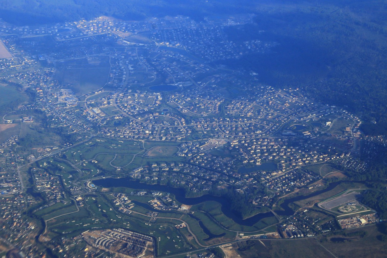 Northwest Moscow region, view from an airplane