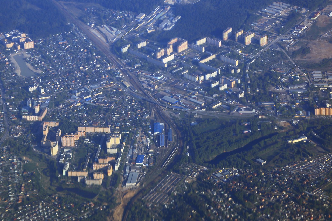 Northern suburbs of Moscow, aerial view