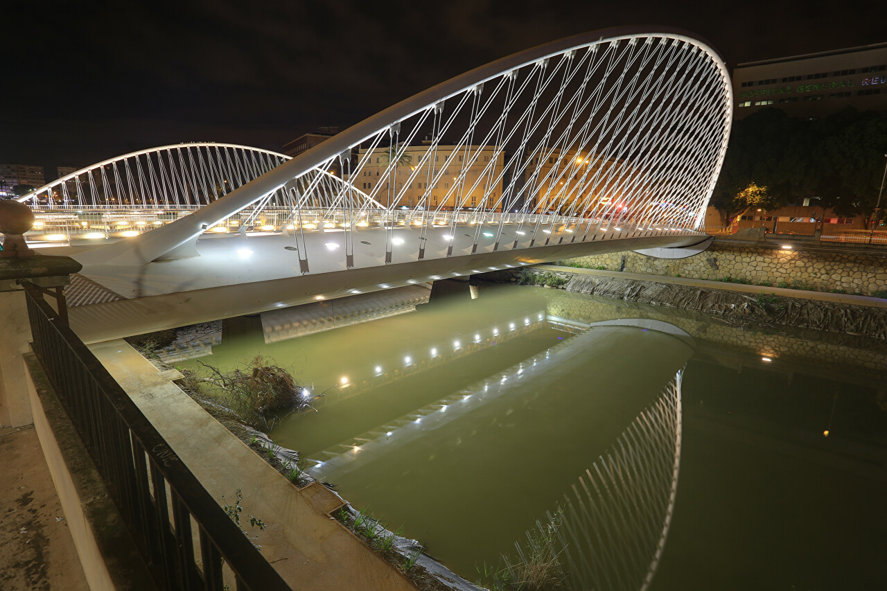 Murcia's Bridge at Night