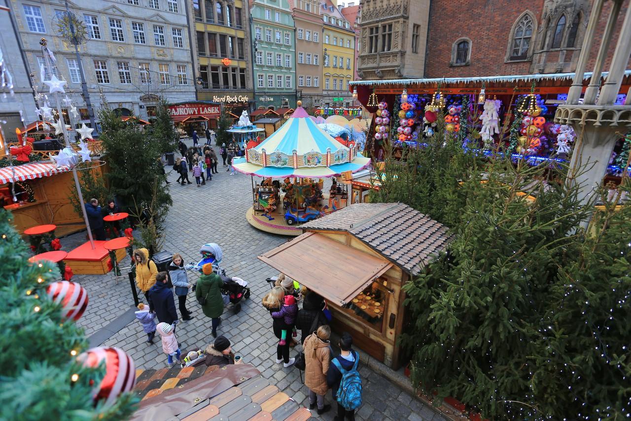 Рождественский городок во Вроцлаве